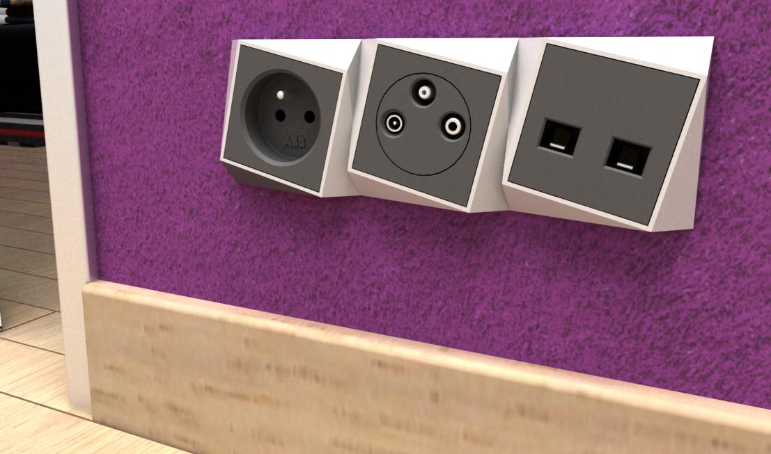 Série Zikzak je vyrobena z plastu tradiční technologií. Mohou vznikat jednobarevné či dvoubarevné kombinace.