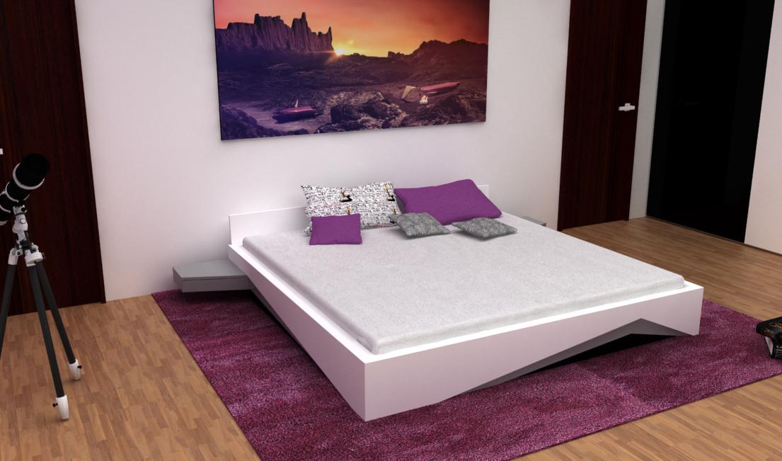 Série originálních postelí. Design postelí byl původně navrženy pro klienta, který chtěl mít originální prvek v ložnici.
