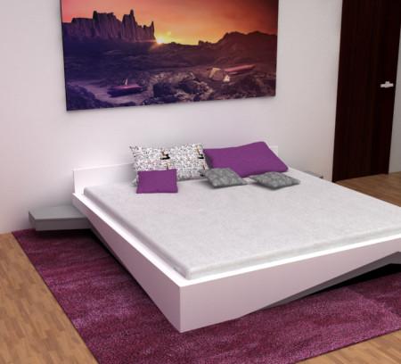 Série originálních postelí. Postele byly původně navrženy pro klienta, který chtěl mít originální prvek v ložnici.