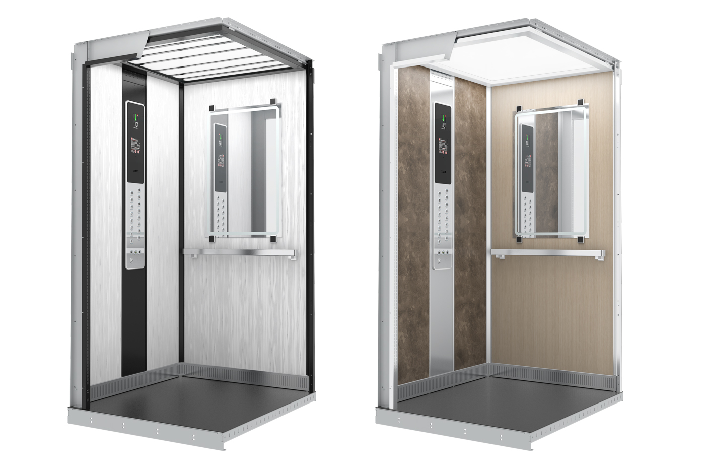 Design nových kabin je promyšlený, moderní a zároveň nadčasový. Stejnými detaily propojuje většinu prvků v kabině. Nový design je uplatněný v řadách LC Classic, LC Elegant / Elegant Black a LC Exclusive.