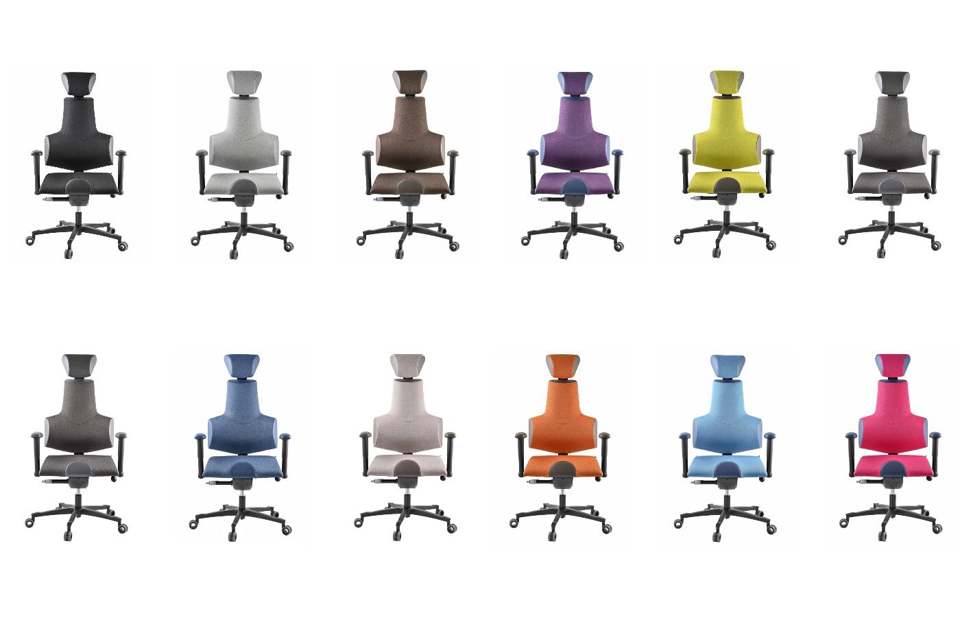 Kancelářská židle Therapia Sense, barevné kombinace.