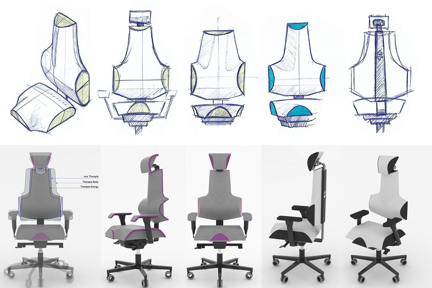 Designový proces probíhal od prvních skic, přes 3D modely a prototypy po první sérii.